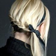 Как завязать волосы лентой