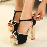 Туфли на толстом каблуке