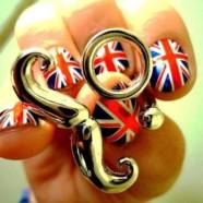 Маникюр «Британский флаг». Британский флаг на ногтях