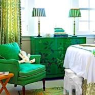 Зеленый цвет в интерьере – залог гармонии в доме