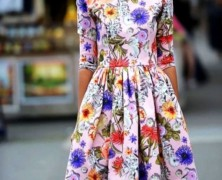 Цветочные принты: платье в цветочек на все времена
