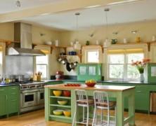 Салатовая кухня — источник весенней свежести