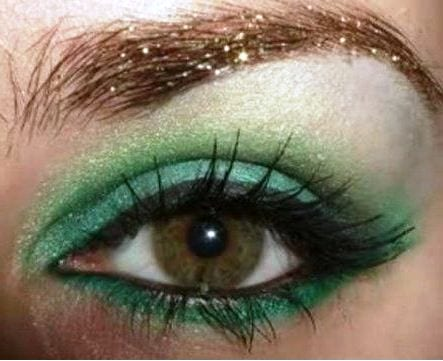 Зеленый мейк-ап