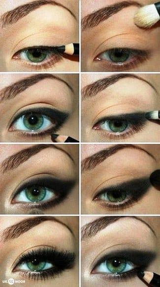 Макияж глаз кошачьи глаза