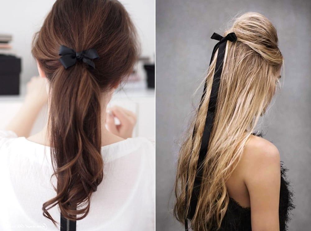 Ленточки в волосах