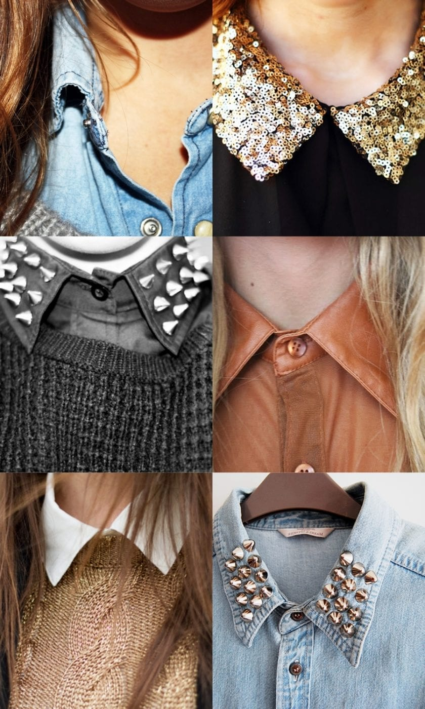 Модные воротники на платье