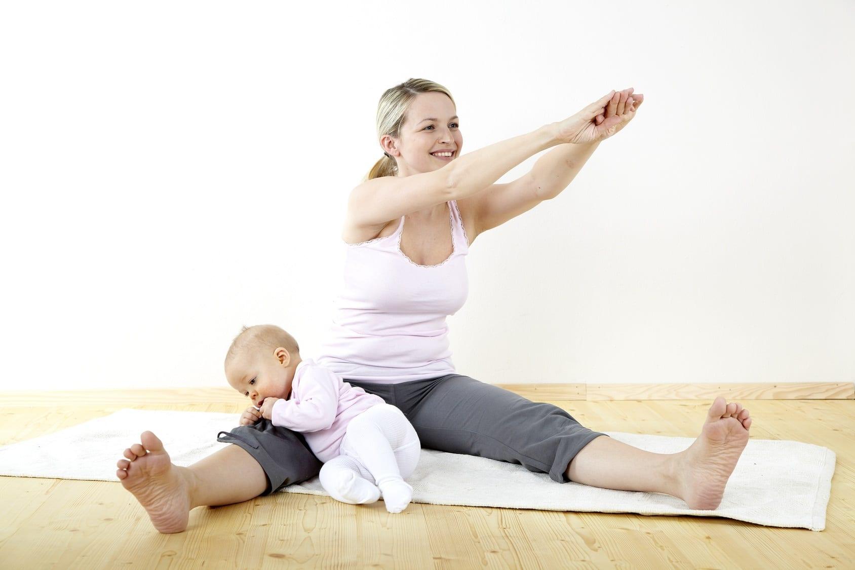 как убрать послеродовой живот ребенку 7 месяцев