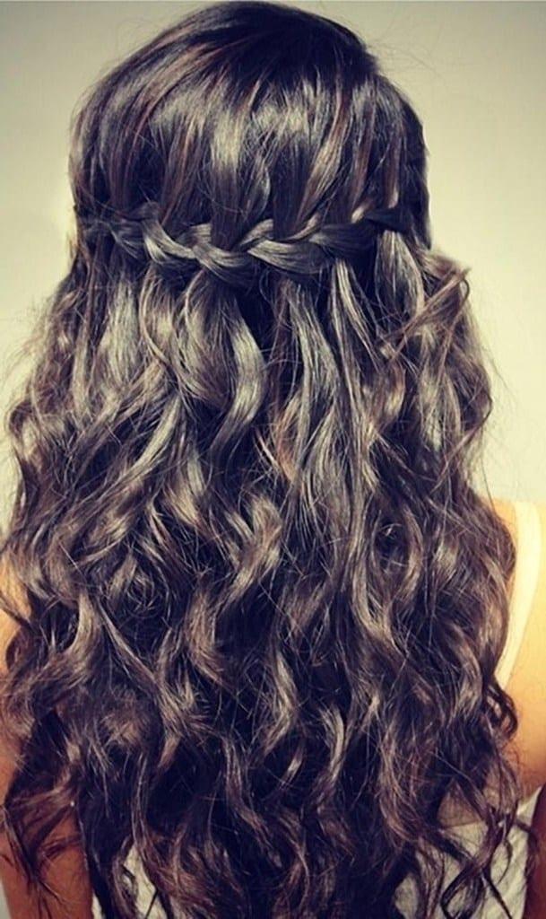 Фото прическа водопад на длинные волосы