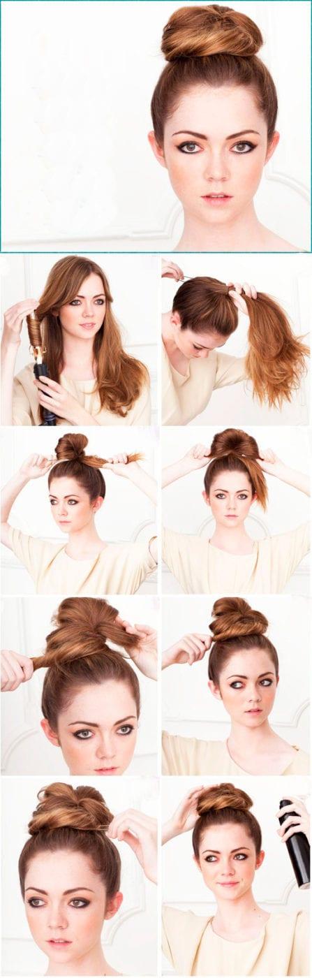 прически обычные на средние волосы