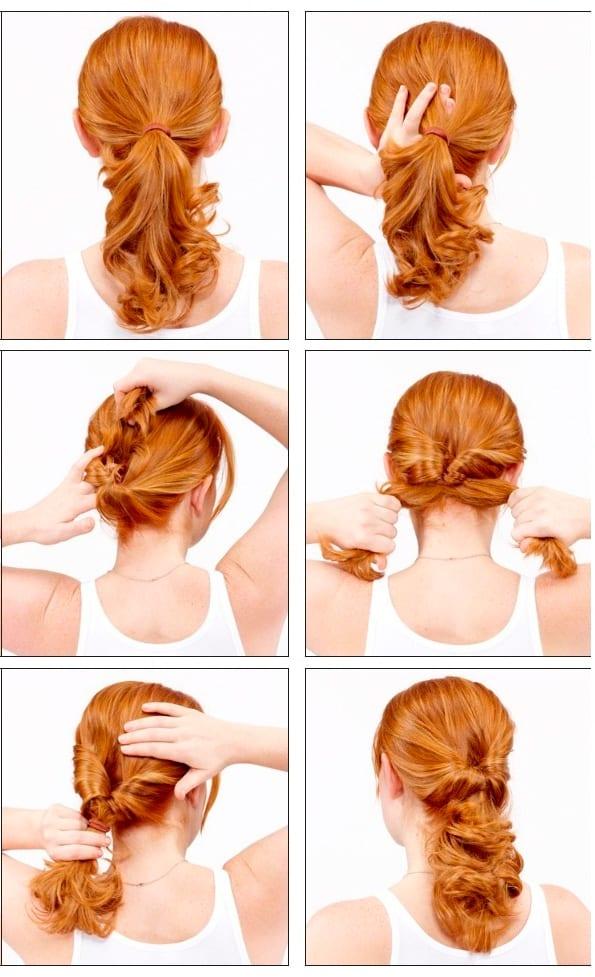 прически для волос средней длины на каждый день на зиму