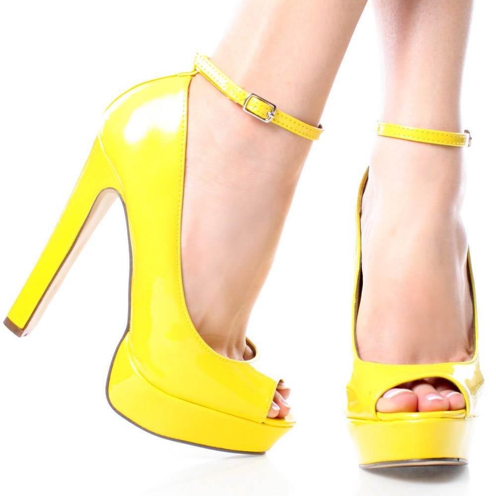 Лодочки туфли желтые купить