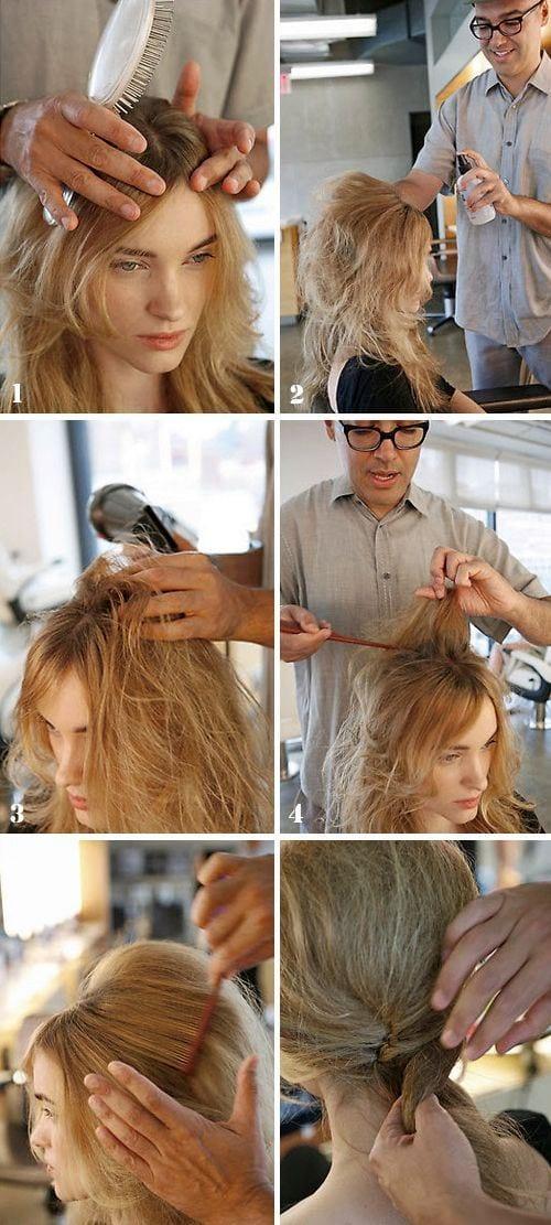 Прическа бабетта на средние волосы своими руками