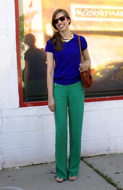 сочетание зеленого и синего фото