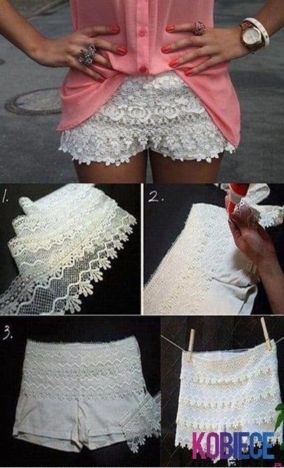 Как украсить шорты самому