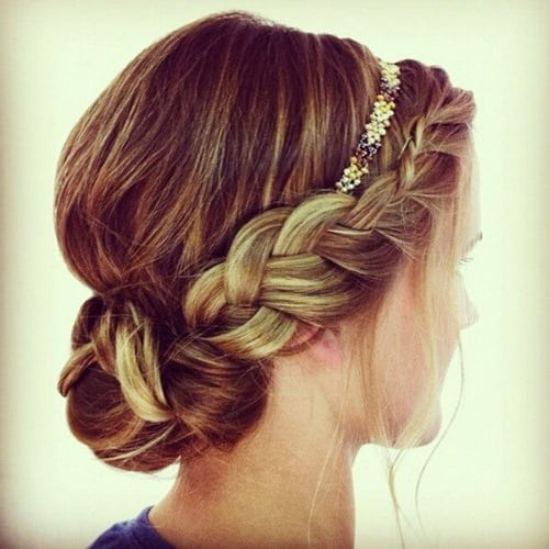 греческие косы на длинные волосы фото