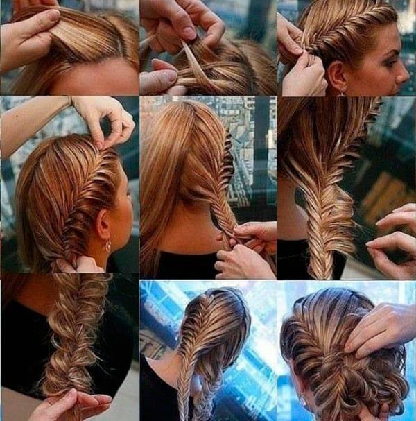 Причёска греческая коса видео