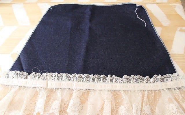 вышивка на трикотажной юбке