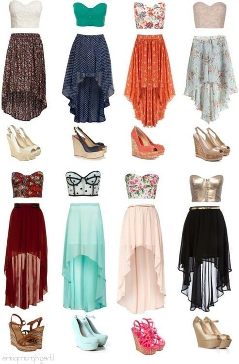 Платья или юбки со шлейфом