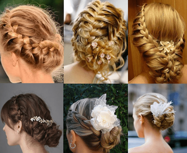 Греческие прически из кос
