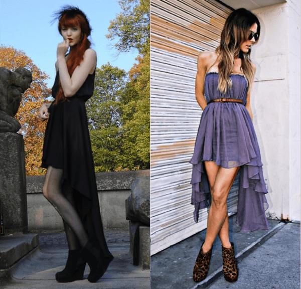 Длина юбки спереди и сзади