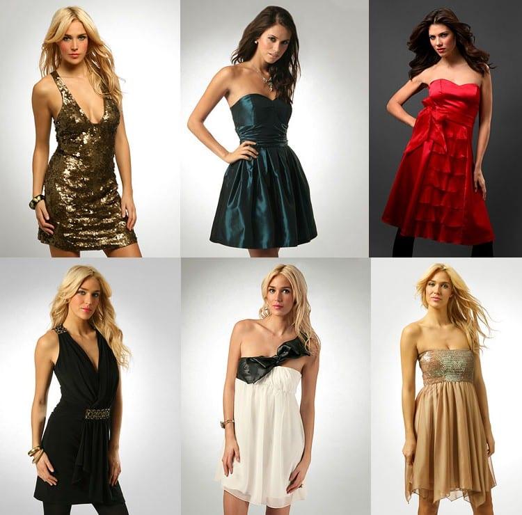 Платья из блестящей ткани
