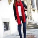 Обувь и аксессуары красного цвета