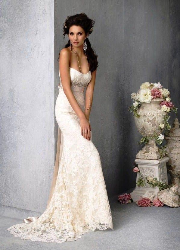 Свадебное платье если бедра узкие