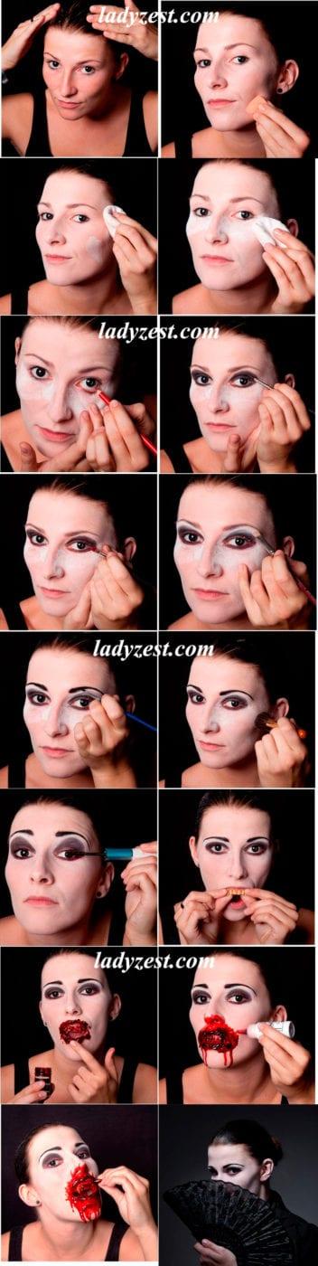Как сделать макияж на Хэллоуин в домашних условиях: мастер 78