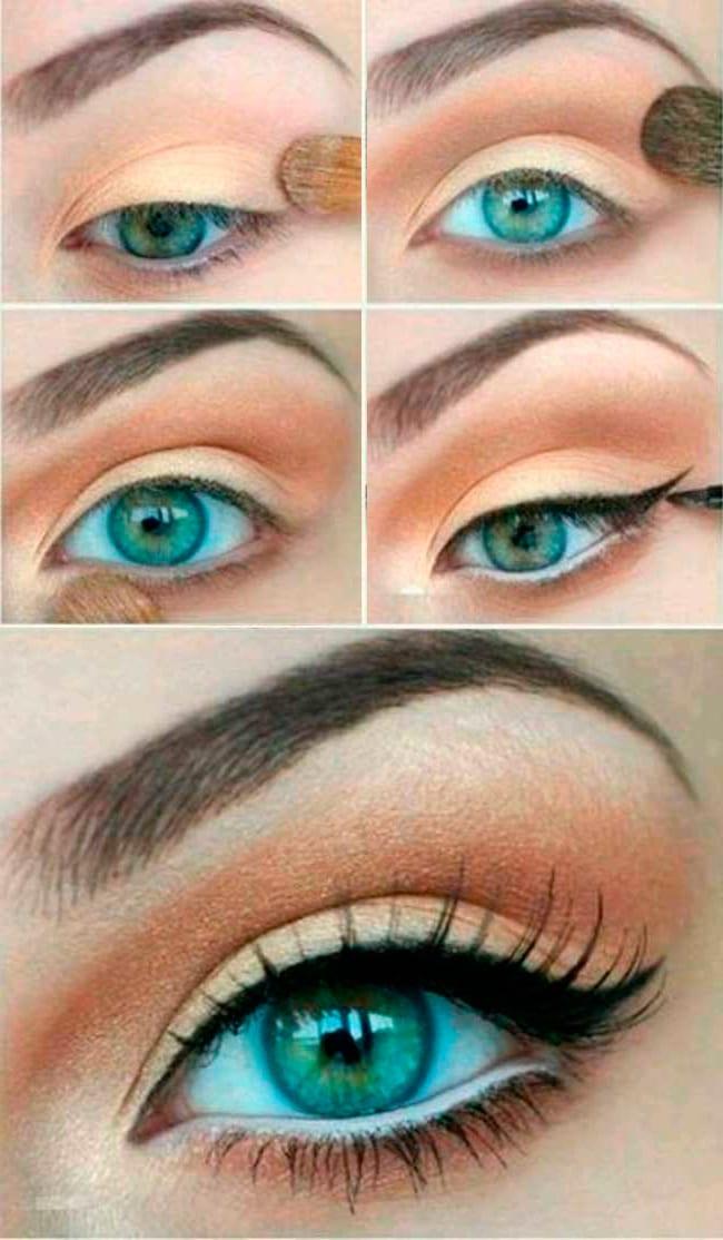 Простой но красивый макияж глаз фото