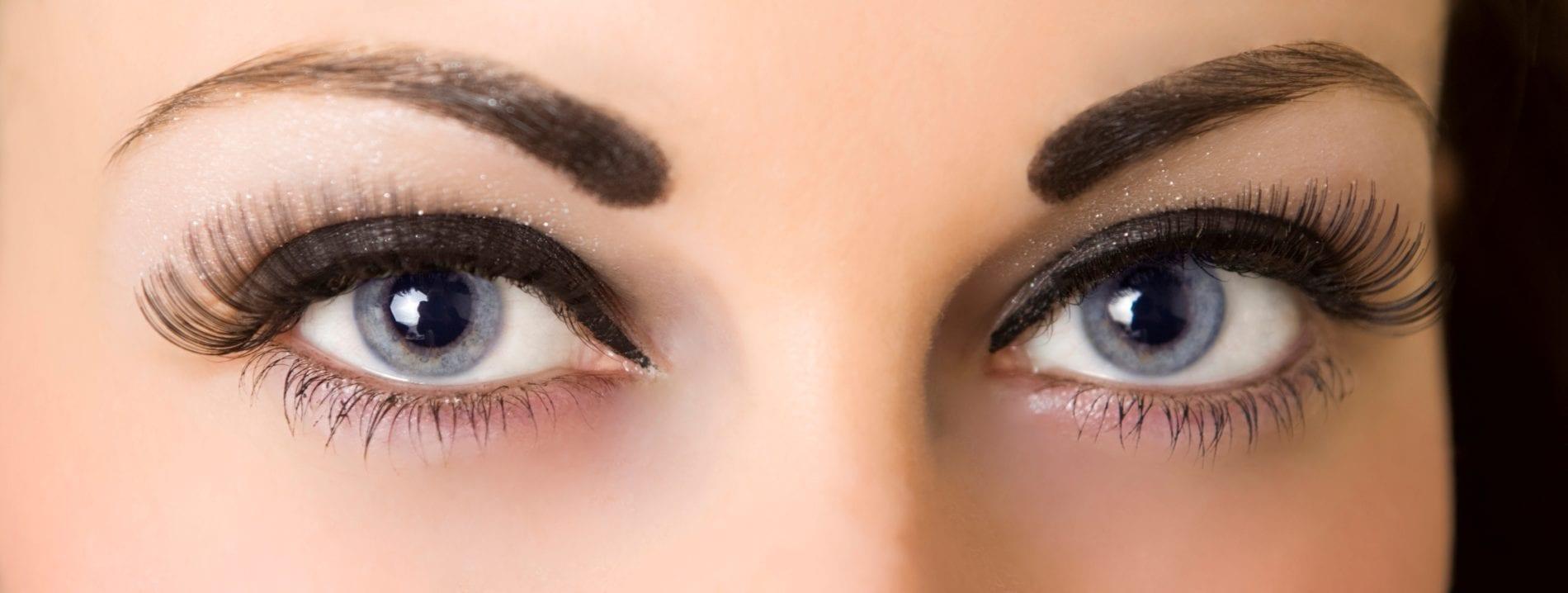 Фото яркого макияж глаз