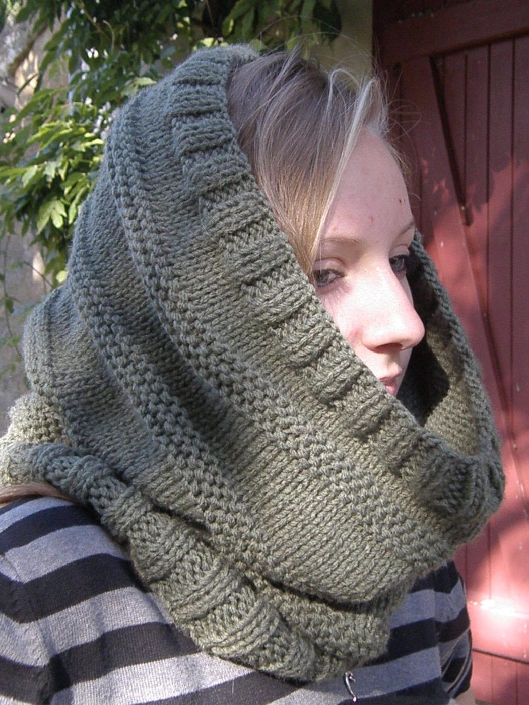 Вязание головного платка спицами