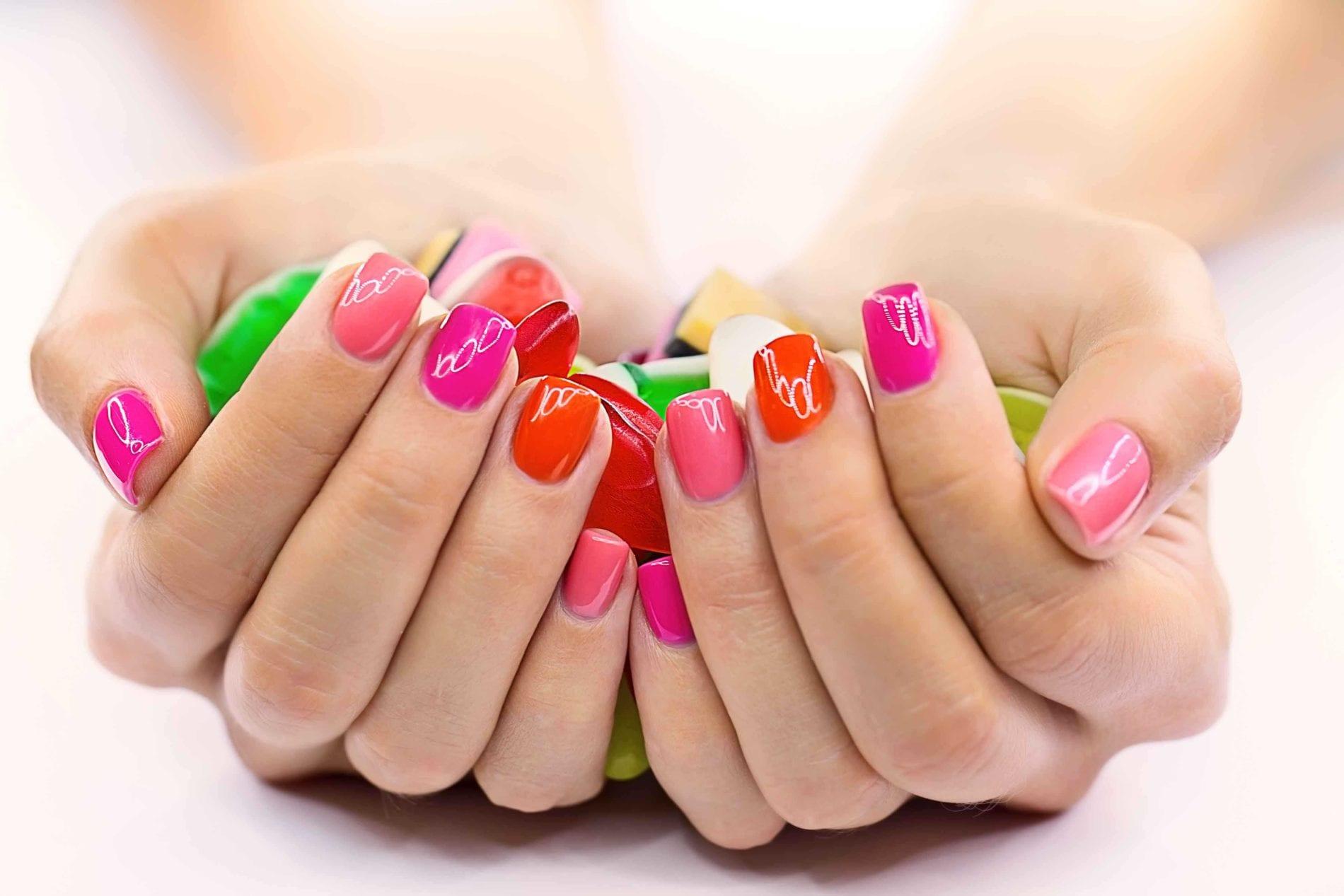 Фото накрашенных ногтей шеллаком