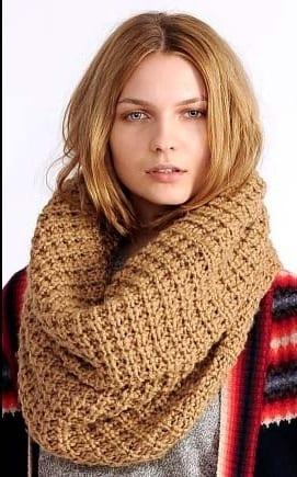 Схемы вязок шарф хомут