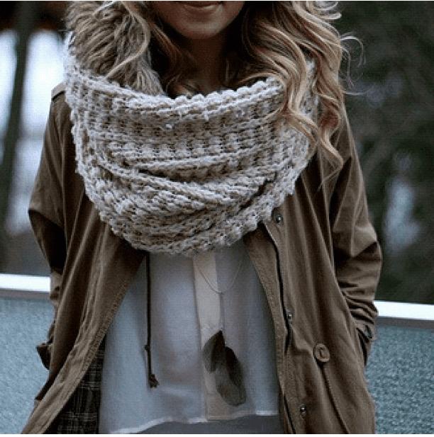 Парка и шарф