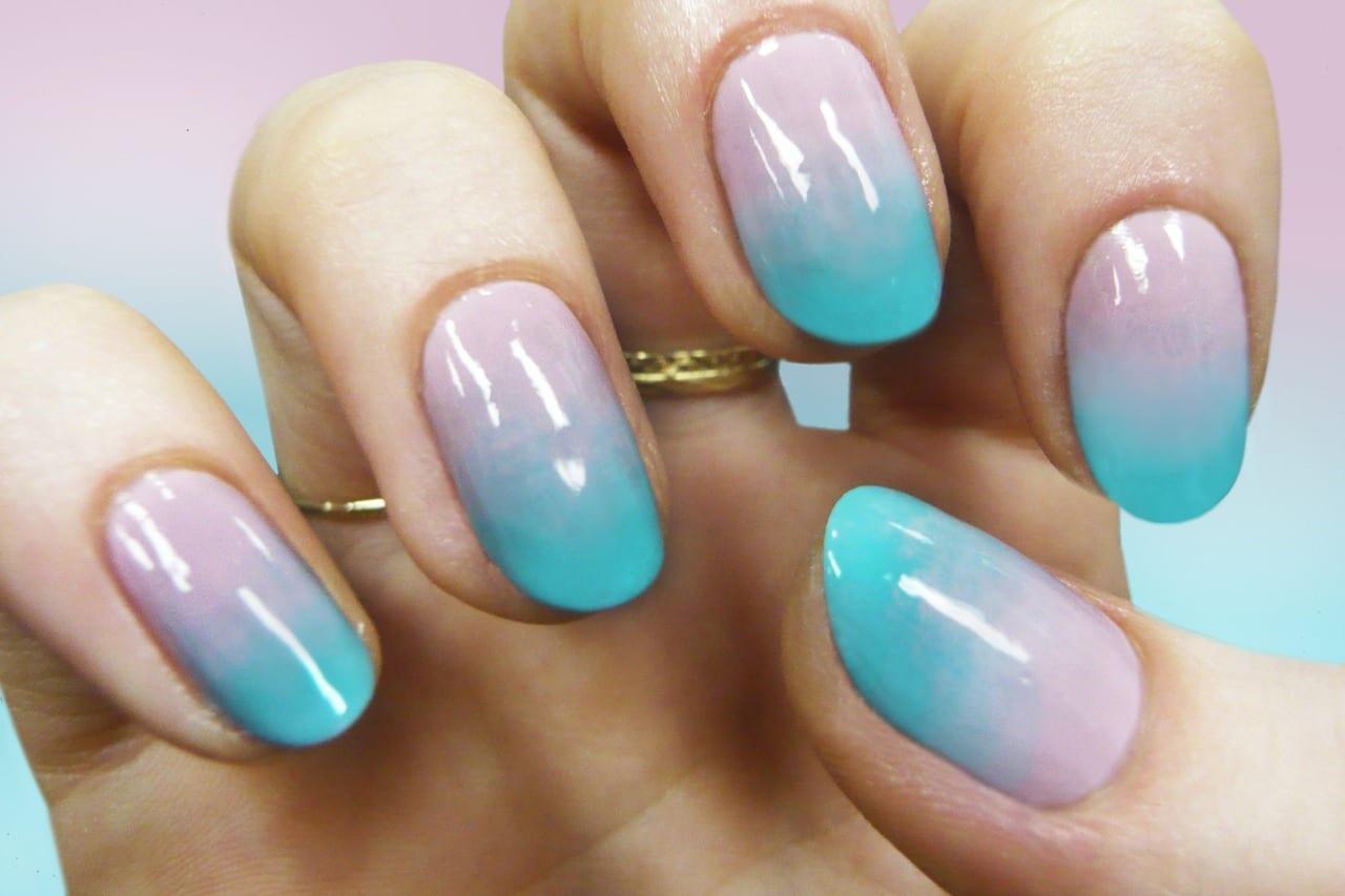 Маникюр с переходом на короткие ногти