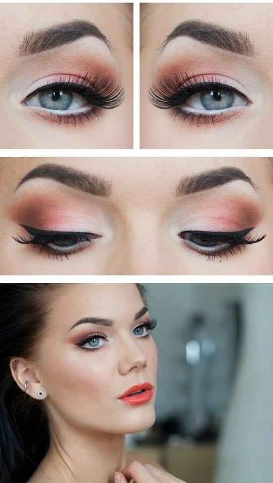 фото макияж для серо-голубых глаз