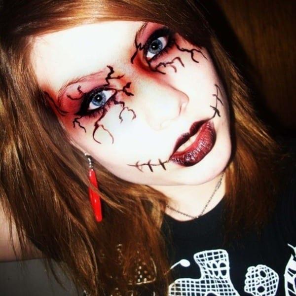 Рисунок на лице на хэллоуин видео 76