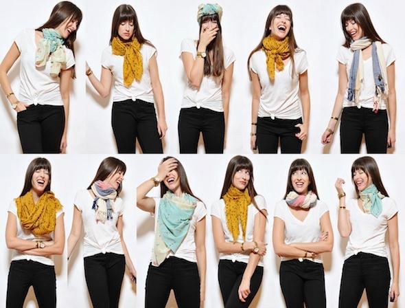 шарф становится