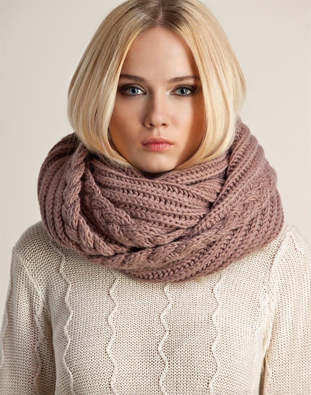 вязание крючком шарф-хомут схемы