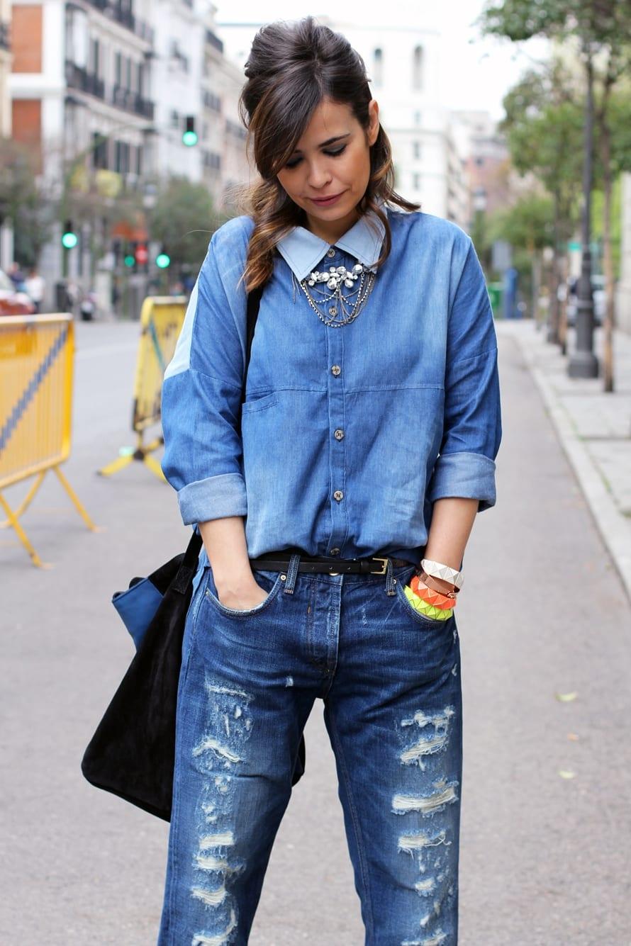 Как сделать красиво на джинсах дырки