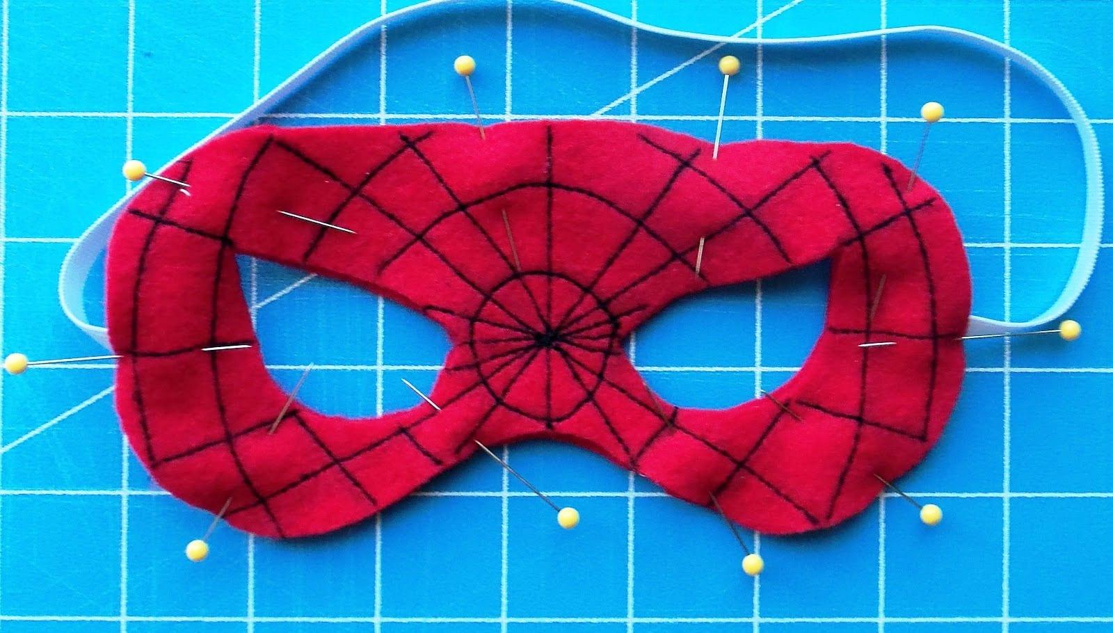 Как сделать маску человека паука из ткани своими руками