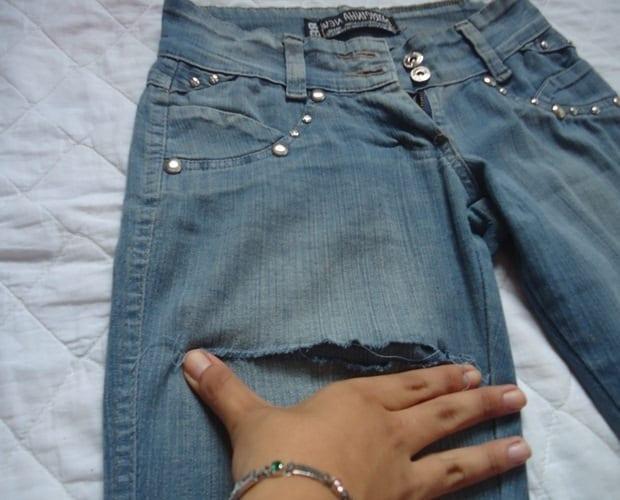 Из старых джинсов - новые