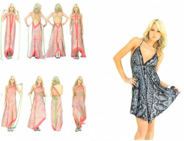 Как сделать платье из платков видео