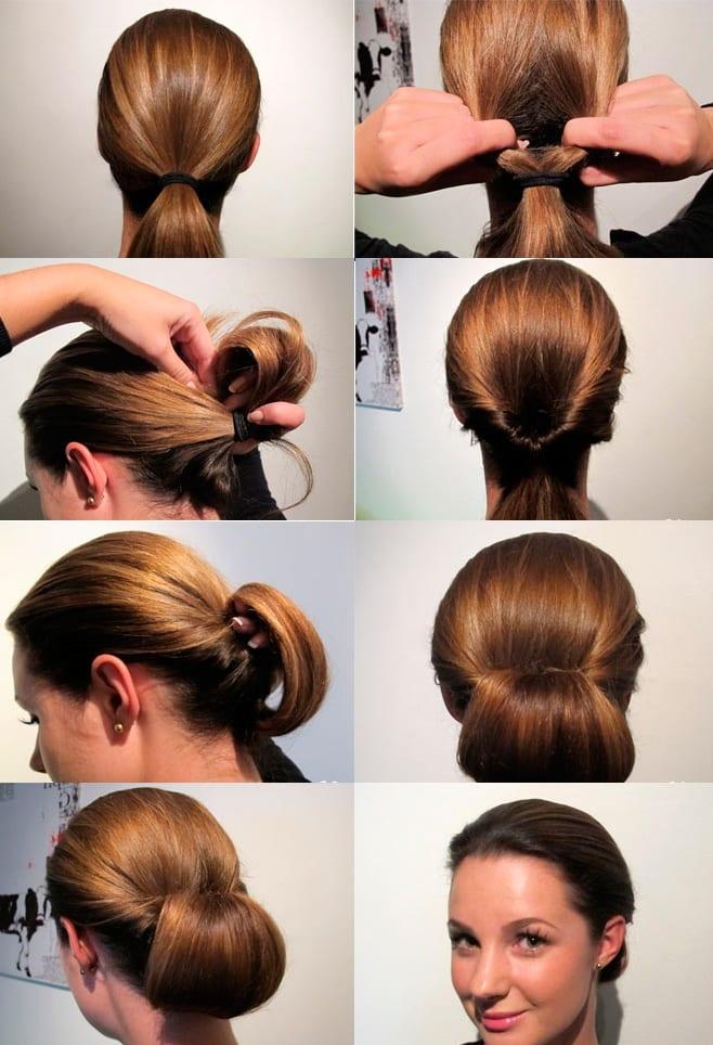прически из волос средней длины на каждый день