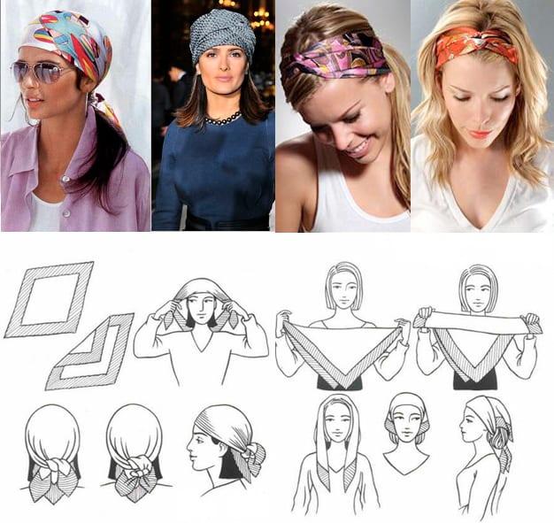фото способы завязывания платков и шарфов на шее