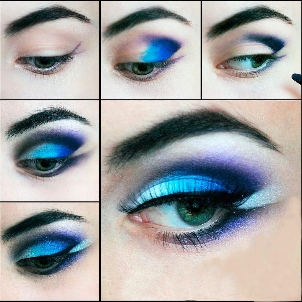 Вечерний макияж для глаз с