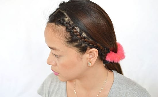 Как сделать себе ободок из волос 533