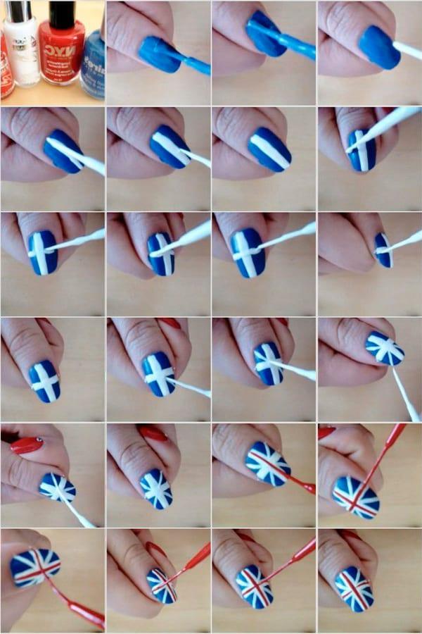 Флаг на ногтях