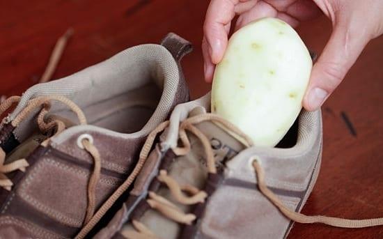 Сырой картофель для растягивания обуви