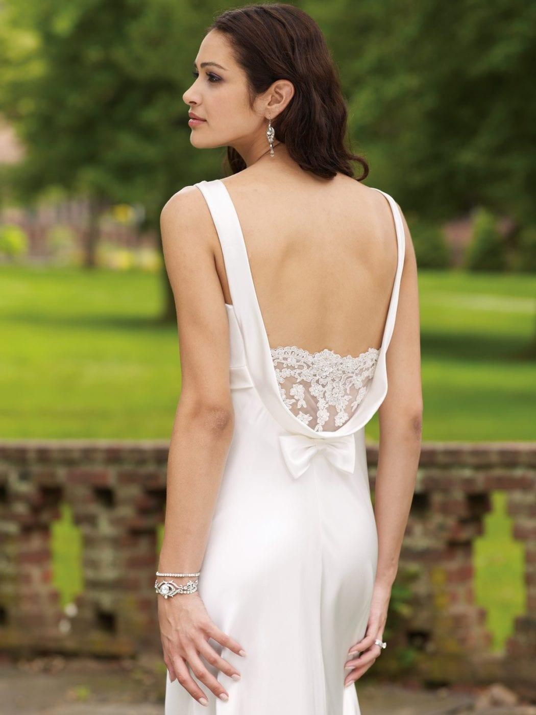 свадебное платье кружевное с открытой